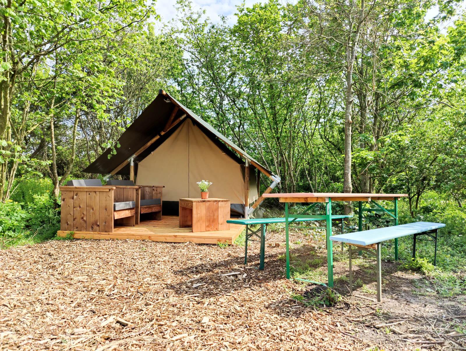 Overnacht in onze safaritenten - Camping Buitenpost